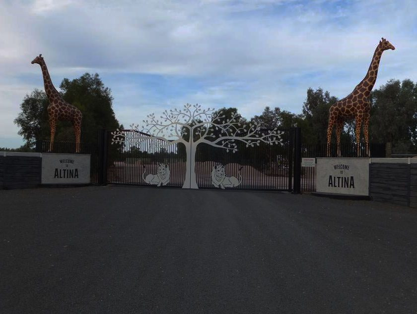 Entry gate for Altina Zoo